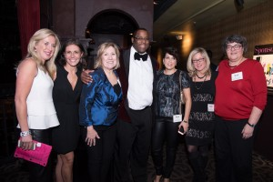 Dancing for Hope committee members, Deirdre Houtmeyers, Tito Jackson, and Katherine A. Hesse, Esq. Chair of St. Mary's Center's Board of Trustees