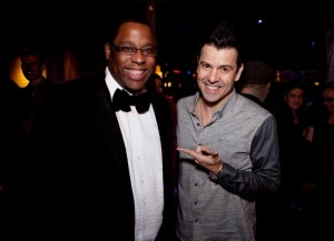 Tito Jackson (left) and Jordan Knight at The Estate on Saturday / KAYANA SZYMCZAK FOR THE BOSTON GLOBE